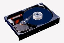 HDD Hard Disk Drive Open Royalty Free Stock Photos