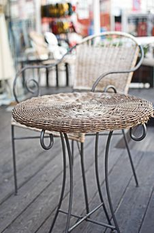 Free Wicker Coffee Table. Royalty Free Stock Images - 16171739