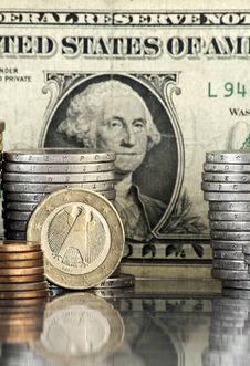 Concept Of Euro And Dollar Royalty Free Stock Images