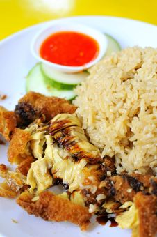 Free Traditional Chicken Rice Delicacy Royalty Free Stock Photo - 16172385