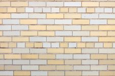 Free Yellow And White Brick Wall Royalty Free Stock Photo - 16172915
