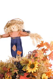 Free Halloween Scarecrow Decoration Royalty Free Stock Image - 16173176