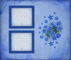 Free Blue Photo Frames Royalty Free Stock Photos - 16173248