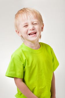 Free Boy Laughs Royalty Free Stock Photo - 16173485