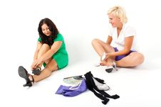 Free Two Women Play Royalty Free Stock Photography - 16173577