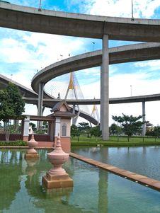 Free Part Of Bhumibol Bridge Royalty Free Stock Photography - 16174337