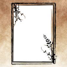 Free Grunge Floral Frame Stock Image - 16174641