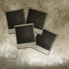 Free Blank Photo Frames On Old Paper Royalty Free Stock Photography - 16174727