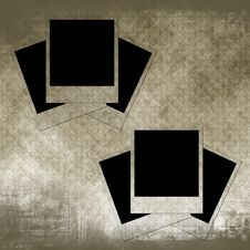 Free Blank Photo Frames On Old Paper Stock Photography - 16174742