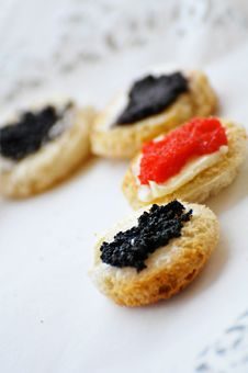Free Caviar On A Plate Royalty Free Stock Photo - 16174865