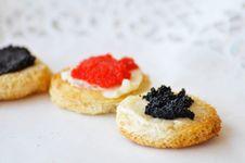 Free Caviar On A Plate Stock Photo - 16174890
