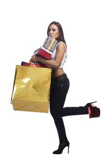 Free Woman With Packages Stock Photo - 16175020