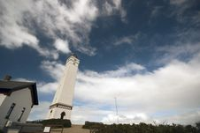 Lighthouse Blaavands Huk Royalty Free Stock Images