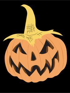 Pumpkin Head Stock Image
