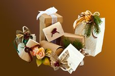 Free Christmas Packages 2 Royalty Free Stock Photography - 16175437