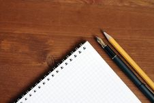 Free Spiral Notebook On The Table Stock Photo - 16176460
