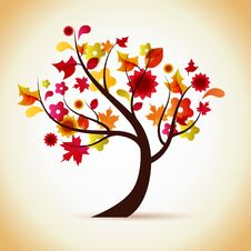 Free Autumn Tree Illustration Royalty Free Stock Photos - 16177208