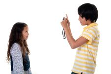 Free Children Take Photos Digital Stock Photo - 16177510