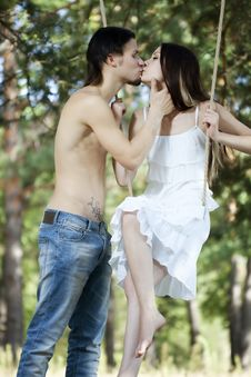 Free Young Happy Couple Swinging Royalty Free Stock Photos - 16177738