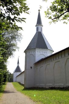 Monastery Wall Royalty Free Stock Image