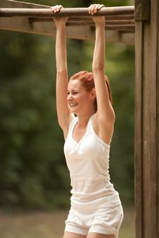 Free Woman Doing Physical Exercise Stock Photos - 16178453