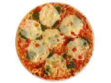 Free Appetizing Pizza On White. Royalty Free Stock Photos - 16178458