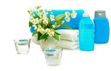 Free Blue Spa With Jasmin Royalty Free Stock Photo - 16178595