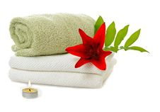 Free Spa With Red Lily Stock Photos - 16178623