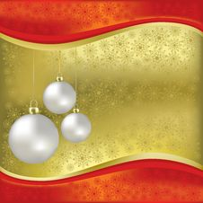 Free Christmas Greeting With Balls Stock Images - 16178794