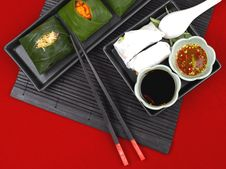 Composition Of Thai Food Stock Image