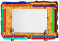 Free Pencil Frame  On Paper  Background Royalty Free Stock Images - 16186319