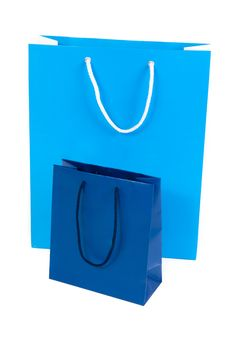 Free Two Blue Shopping Bags Stock Images - 16181764