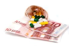 Free Pills And Money Stock Photography - 16182542