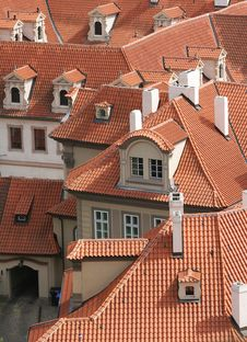 Free Red Roofs Of Prague Royalty Free Stock Photo - 16182685