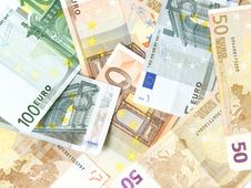 Free Background Made Of EURO Money Royalty Free Stock Images - 16182859