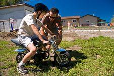 Free Boy On Pocketbike Royalty Free Stock Photo - 16183125