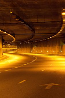 Free Highway At Night Stock Photo - 16183240