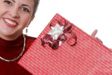 Wrapping Holiday Presents Royalty Free Stock Photo