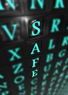 Safe 3d Word Stock Photography