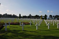 American Cemetery Royalty Free Stock Photos