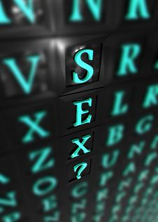 Sex 3d Word Stock Photo