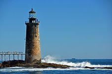 Free Portland Harbor Lighthouse Royalty Free Stock Photo - 16184595