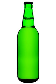 Free Closed, Green Beer Bottle Royalty Free Stock Images - 16184769