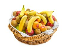 Free Basket With Fruits Stock Image - 16184931