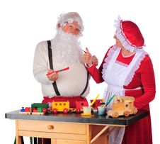Free Approving Santa S Work Royalty Free Stock Photos - 16184938