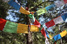 Tibetan Prayer Falgs Stock Image