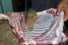 Free Chopping Of Beef Rib Royalty Free Stock Photos - 16185418