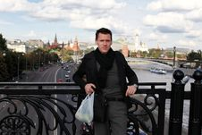 Free Man With Apples On Bridge. Moscow Stock Photography - 16186012