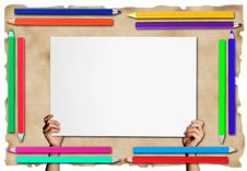 Free Pencil Frame  On Paper  Background Stock Photo - 16186330