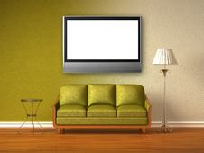 Free Double Coloured Interior Of Living Room Stock Images - 16186334